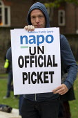 NAPO members. Defend the right to strike, Trade Union Coordinating Group protest meeting against the Trade Union Bill. House of Commons, Westminster. London. - Jess Hurd - 13-10-2015