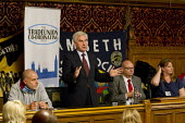 John McDonnell MP speaking at Defend the right to strike, Trade Union Coordinating Group protest meeting against the Trade Union Bill. House of Commons, Westminster. London. - Jess Hurd - 13-10-2015