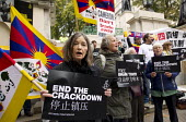 Free Tibet human rights protest state visit of Chinese president Xi Jinping London - Jess Hurd - 20-10-2015