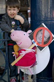 Pig protest TUC march against austerity cuts and unfair Trade Union Bill, Conservative Party Conference, Manchester. - Jess Hurd - 04-10-2015