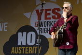 Billy Bragg. TUC march against austerity cuts and unfair Trade Union Bill, Conservative Party Conference, Manchester. - Jess Hurd - 04-10-2015