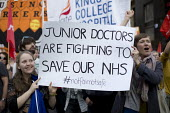 Junior doctors are fighting to save the NHS. TUC march against austerity cuts and unfair Trade Union Bill, Conservative Party Conference, Manchester. - Jess Hurd - 04-10-2015