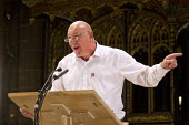 Dave Ward speaking at the People's Post CWU rally Manchester Cathedral during Conservative Party Conference. - Jess Hurd - 05-10-2015
