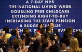 David Cameron and Samantha at the end of his speech Conservative Party Conference, Manchester. - Jess Hurd - 07-10-2015