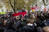 John McDonnell speaking National Student protest against fees and cuts. London. - Jess Hurd - 04-11-2015