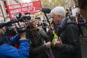 John McDonnell TV interview National Student protest against fees and cuts. London. - Jess Hurd - 04-11-2015