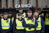 Police protect Casino. National Student protest against fees and cuts, London. - Jess Hurd - 04-11-2015
