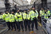 Police protect Downing Street. National Student protest against fees and cuts, London. - Jess Hurd - 04-11-2015
