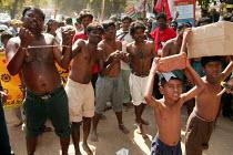 Protest against child slavery World Social Forum Mumbai India - Jess Hurd - 18-01-2004