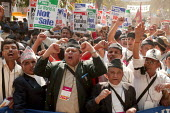 Protest against the caste system of Dalits or untouchables World Social Forum Mumbai India - Jess Hurd - 18-01-2004