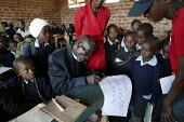 The oldest primary school pupil in the world, who is 76 joined school in Eldoret when primary education was declared free in Kenya. Kapkenduywa Primary School. ActionAid Get on Board campaign collecti... - Jess Hurd - 06-05-2005