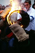 Tar Barrel Rolling, Ottery St Mary, Devon. - James Jenkins - 05-11-2002