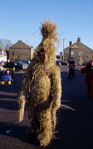 Whittlesey Straw Bear Man dancing around the village, Cambridgeshire - James Jenkins - 11-01-2003