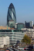 The Gherkin, Swiss Re tower designed by Sir Norman Foster, City of London. - James Jenkins - 01-10-2003