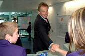 Tony Blair opens the Business Academy, Yarnton Way, Thamesmead, London. - James Jenkins - 18-09-2003