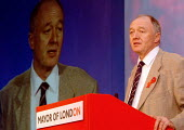 Ken Livingstone, Mayor of London, speaking at The London Conference, QE11 Conference Centre, London. - James Jenkins - 29-11-2003