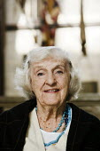 Portrait of an elderly woman, during a visit to Salisbury Cathedral. - Paul Carter - 15-09-2008