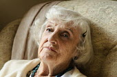 Portrait of an elderly woman sitting in a chair. - Paul Carter - 15-09-2008