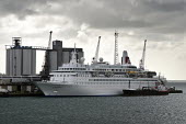 Cruise ship, Boudicca, Fred Olsen Line, being bunkered by Jaynee W. Southampton Docks. - Paul Carter - 03-05-2009