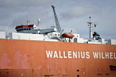 The Wallenius, Wilhelmsen vehicle carrier Tagus, Southampton Docks. A Pure Car and Truck Carrier (PCTC) Roll-on, Roll-off (RoRo) vessel - Paul Carter - 2000s,2009,AUTO,AUTOMOBILE,AUTOMOBILES,AUTOMOTIVE,boat,boats,capitalism,capitalist,car,Cargo Ship,cargo vessel,cars,dock,docked,docks,dockside,EBF,EBF economy,Economic,Economy,export,exports,harbor,ha