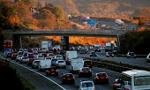 Traffic on a busy motorway. - Paul Carter - 17-10-2002