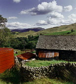 Farm buildings on a hillside in The Lake District. - Paul Carter - 24-08-1992