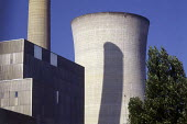 Power station cooling tower. - Paul Carter - 1980s,1982,chimney,CHIMNEYS,Cooling Towers,EBF economy,electrical,electricity,energy,ENI environmental issues,environmental degradation,generation,POLLUTANT,POLLUTE,POLLUTED,POLLUTING,pollution,stack,