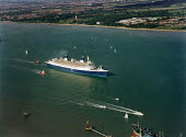 Aerial view of NCL passenger ship Norway. - Paul Carter - 04-10-1996