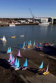 Sailing boats of the waters edge, with industrial docks behind. - Paul Carter - 09-07-2003