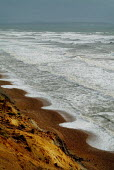 Stormy sea on the coastal path between Barton on Sea and Milford on Sea, Hampshire. - Paul Carter - 02-10-2003