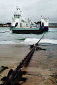 Sandbanks chain ferry crossing the entrance to Poole Harbour. - Paul Carter - 25-11-2003