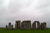 Ancient stone circle Stonehenge on the chalk down of Salisbury Plain, Wiltshire. - Paul Carter - &,2000s,2003,ACE,ace culture,ancient,Ancient Monument.,archeological,archeology,atmospheric,attraction,belief,bluestones,Cecil,chalk,Chubb,circle,conviction,culture,druid,Druids,English Heritage,faith