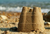 A sand castle on the beach at Milford-on-Sea, Hampshire. - Paul Carter - 29-05-2003