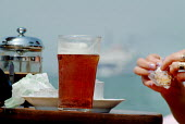 Coffee and beer in a pub garden. - Paul Carter - 27-07-2004