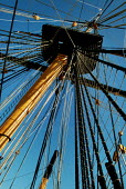 Looking up the mast and rigging of HMS Victory, Portsmouth. - Paul Carter - 13-06-2003