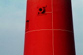 Foghorn on the bright red lighthouse at Portland Bill, Dorset. - Paul Carter - 14-02-2004