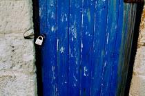 Padlocked door on a stone hut at Portland Bill, Dorset. - Paul Carter - 14-02-2004
