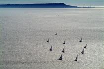 Looking over a still sea towards the Isle of Portland. Near Chapman's Pool and Kimmeridge. Dorset. - Paul Carter - 03-08-2004