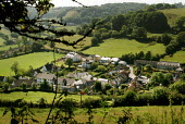 Looking down to the village of Branscombe, Devon, nestled in a green valley. - Paul Carter - 17-09-2004