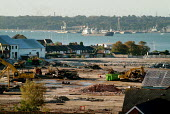 Vosper Thornycroft shipyard, partly demolished. Making way for a large development of 1,500 new homes. On the River Itchen, Southampton. - Paul Carter - 24-09-2004