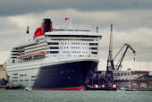 The passenger liner, The Cunard Queen Mary 2, docked in Southampton on the day of her maiden voyage. - Paul Carter - 12-01-2004
