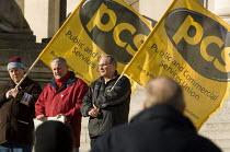 Rally of PCS members. PCS civil service union strike. Portsmouth, Hampshire - Paul Carter - 31-01-2007