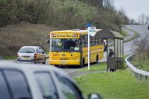 A Yellow School Bus. Southampton - Paul Carter - 2000s,2007,bus,bus service,Bus Stop,buses,child,CHILDHOOD,children,communities,community,Council Services,Council Services,decker,driver,drivers,DRIVING,EDU education,highway,journey,JOURNEYS,junction
