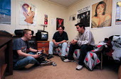 Students in Hall of Residence accommodation. - Roy Peters - 04-07-1999