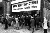 Unemployment Benefit Office Liverpool. 1979 - John Sturrock - ,1970s,1979,asian,asians,basic,benefit,benefits,BME minority ethnic,cities,city,communicating,communication,deindustrialisation,Deindustrialization,DHSS,Dole,DOWNTURN,EBF,EBF Economy,economic,Economic