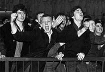 British Movement demonstration, London 1980 - John Sturrock - (BM),1980,1980s,Aggressive,anger,Angry,British,DEMONSTRATING,demonstration,EMOTION,EMOTIONAL,EMOTIONS,Fascism,Fascist,fascists,fist,fists,London,male,man,men,movement,nationalism,Neo-Nazism,people,per