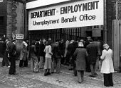 Unemployment Benefit Office Liverpool. 1979 - John Sturrock - 1970s,1979,asian,asians,basic,benefit,benefits,BME Black minority ethnic,cities,city,communicating,communication,deindustrialisation,Deindustrialization,DHSS,Dole,DOWNTURN,EBF,EBF Economy,economic,Eco