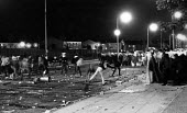 Toxteth Riot, in Liverpool 1981. - John Sturrock - ,1980s,1981,adult,adults,anger,angry,BAME,BAMEs,Black,BME,BME Black minority ethnic,bmes,boy,boys,child,CHILDHOOD,children,cities,city,civil,CLJ,disorder,disturbance,diversity,EMOTION,EMOTIONAL,EMOTIO