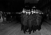 The police at a ISTC steelworkers picket, British Steel Hadfields, Sheffield. - John Sturrock - 14-02-1980