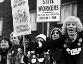 Wives of ISTC Steelworkers picketing British Steel Sheerness February 1980 - John Sturrock - 20-02-1980
